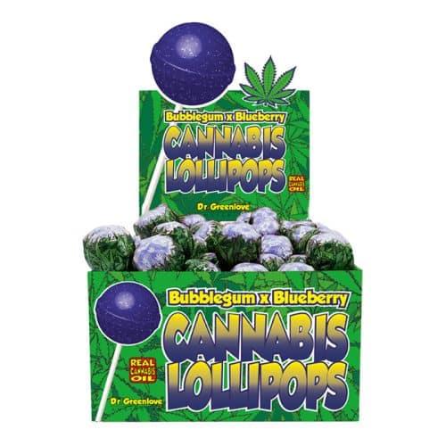 sucette cbd bubble gum blueberry