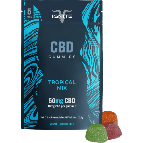 ignite gummies cbd mix tropical